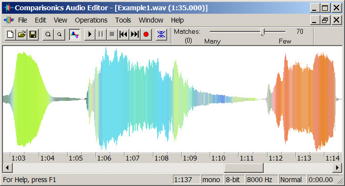 Comparisonics Audio Editor